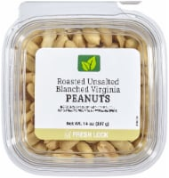 Roasted Unsalted Blanched Virginia Peanuts - 14 oz