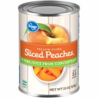 Kroger® Yellow Cling Sliced Peaches in Pear Juice