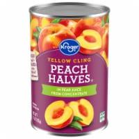Kroger® Yellow Cling Peach Halves in Pear Juice - 15 oz