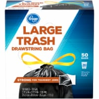 Kroger®  Large 30 Gallon Drawstring Trash Bags 50 Ct Box