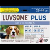 Luvsome Plus Flea & Tick Dog 23-44 lbs - 3 ct
