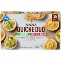 Kroger® Florentine Cheese & Bacon Mini Quiche Duo 30 Count