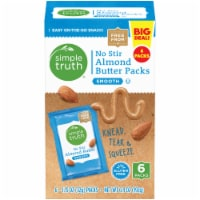 Simple Truth™ No Stir Smooth Almond Butter Packs 6-1.15 oz Packs Box