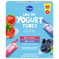 Kroger® Low Fat Strawberry & Blueberry Yogurt Tubes