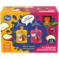 Kroger® Classic & Apple Cherry Applesauce Pouches 12 Count