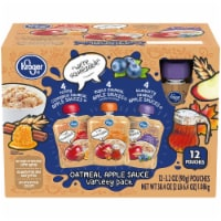 Kroger® Oatmeal Apple Sauce Pouch Variety Pack