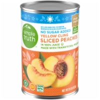 Simple Truth™ No Sugar Added Yellow Cling Sliced Peaches in 100% Juice