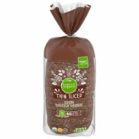 Simple Truth Organic® 100% Whole Wheat Thin Sliced Bread