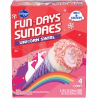 Kroger® Fun Days Sundaes Unicorn Swirl Sundae Cones