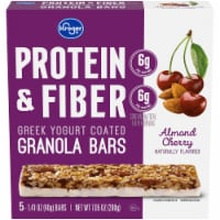 Kroger® Protein & Fiber Almond Cherry Greek Yogurt Coated Granola Bars (5 Pack)