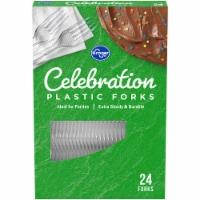 Kroger® Celebration Clear Plastic Forks