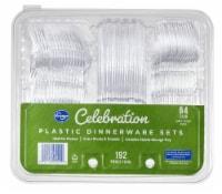 Kroger® Celebration Clear Plastic Dinnerware Sets