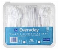 Kroger® Everyday White Plastic Dinnerware Sets