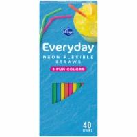 Kroger® Neon Flexible Straws