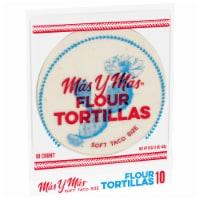 Mas y Mas Soft Taco Size Flour Tortillas 10 Count