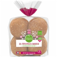 Simple Truth Organic™ 21 Grains & Seeds Hamburger Buns 8 Count