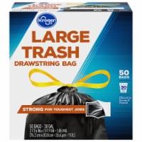 Kroger® Large Drawstring 30 Gallon Trash Bags - 50 ct