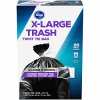 Kroger® X-Large Twist Tie 55 Gallon Trash Bags - 20 ct