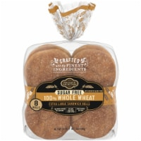 Private Selection® Sugar Free 100% Whole Wheat Extra Large Sandwich Rolls
