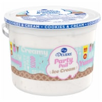 Kroger® Deluxe Party Pail Cookies & Cream Flavored Ice Cream Family Size - 1.25 gal