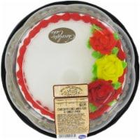 Bakery Chocolate Decorated White Simply Satin Cake