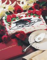 Kroger® White Buttercream Icing Half Chocolate Sheet Cake