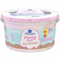 Kroger® Deluxe Party Pail Neapolitan Flavored Ice Cream Family Size - 1 gal