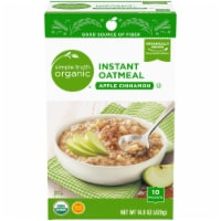 Simple Truth Organic™ Apple Cinnamon Instant Oatmeal Packets 10 Count