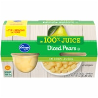 Kroger® Diced Pears in Juice Cups 4 Count