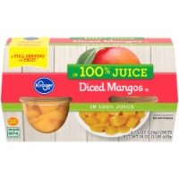 Kroger® 100% Juice Diced Mangos Cups 4 Count