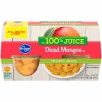 Kroger® 100% Juice Diced Mangos Cups 4 Count - 16 oz