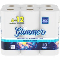 Glimmer Select-A-Sheet Paper Towels - 6 rolls