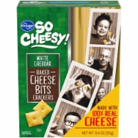 Kroger® White Cheddar Baked Cheese Bits Crackers - 12.4 oz