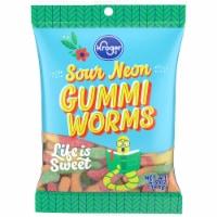 Kroger® Sour Neon Worms - 6.5 oz