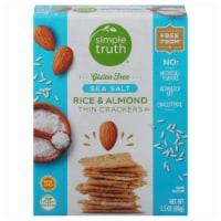 Simple Truth® Gluten Free Sea Salt Rice & Almond Crackers - 3.5 oz