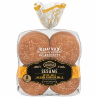 Private Selection® Sesame Extra Large Enriched Sandwich Rolls 8 Count
