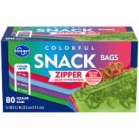 Kroger® Reclosable Colorful Assorted Square Snack Bags