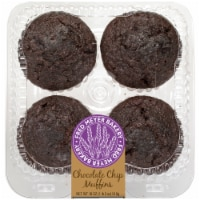 Fred Meyer Bakery Chocolate Chip Muffins - 4 ct / 18 oz