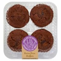Fred Meyer Bakery Raisin Bran Muffins - 4 ct / 18 oz