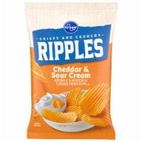 Kroger®  Ripples Gluten Free Cheddar & Sour Cream Potato Chips - 7.5 oz