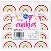 Kroger® Entertainment Essentials Modern Rainbow Beverage Napkins - 24 ct