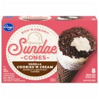 Kroger® Fun Days Sundaes Cookies & Cream Cones 8 Count