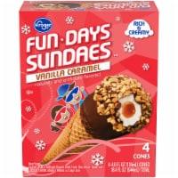 Kroger® Fundays Sundaes™ Vanilla Caramel Cone - 4 ct / 4.6 fl oz