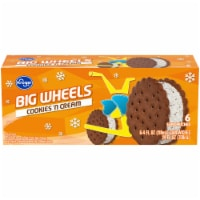 Kroger® Big Wheels Cookies 'N Cream Round Ice Cream Sandwiches