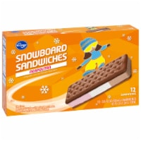 Kroger® Snowboard Neapolitan Ice Cream Sandwiches 12 Count