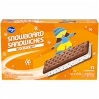 Kroger® Snowboard Chocolate Chip Naturally & Artificially Flavored Ice Cream Sandwiches 12 Count