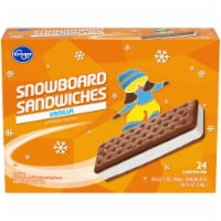 Kroger® Snowboard Sandwiches Ice Cream Sandwiches 24 Count