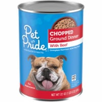 Pet Pride Chopped Ground Dinner with Beef - 22 oz