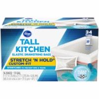 Kroger® Clean Linen Scent Tall Kitchen 13 Gallon Elastic Drawstring Trash Bags - 34 ct
