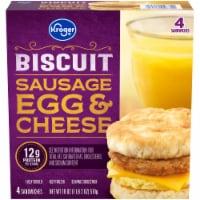 Kroger® Sausage Egg & Cheese Biscuit - 4 ct / 18 oz